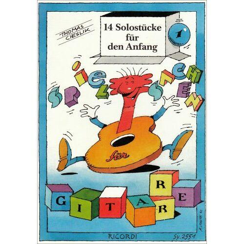 - Spielsachen Band 1 - 14 Solostuecke Fuer Den Anfang. Gitarre - Preis vom 13.07.2019 05:54:31 h