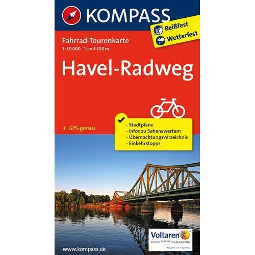 KOMPASS-Karten GmbH - Havel-Radweg: Fahrrad-Tourenkarte. GPS-genau. 1:50000. (KOMPASS-Fahrrad-Tourenkarten) - Preis vom 28.02.2021 06:03:40 h