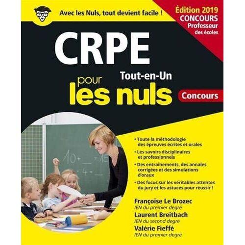 Françoise Le Brozec - CRPE pour les nuls : Tout-en-un - Preis vom 05.09.2020 04:49:05 h