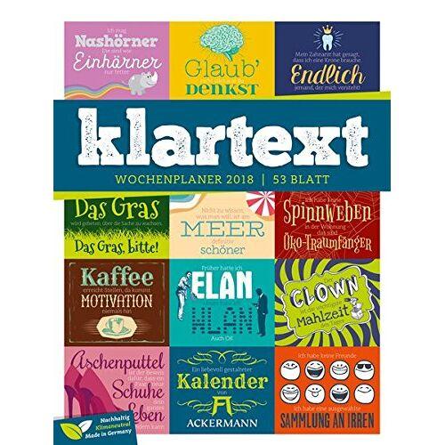 Ackermann Kunstverlag - Klartext 2018 - Wochenplaner - Preis vom 05.08.2019 06:12:28 h