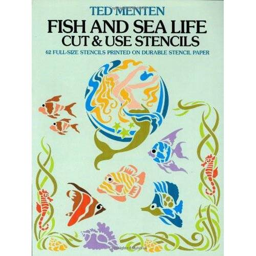 Ted Menten - Fish and Sea Life Cut & Use Stencils: 62 Full-Size Stencils Printed on Durable Stencil Paper (Dover Stencils) - Preis vom 27.01.2021 06:07:18 h