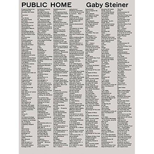 Gaby Steiner (Hg.) - Gaby Steiner: Public Home - Preis vom 05.09.2020 04:49:05 h