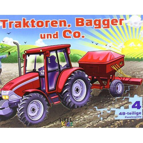 - Traktoren, Bagger und Co. Puzzlebuch mit 4 48-teiligen Puzzles (Buch plus) - Preis vom 22.02.2021 05:57:04 h