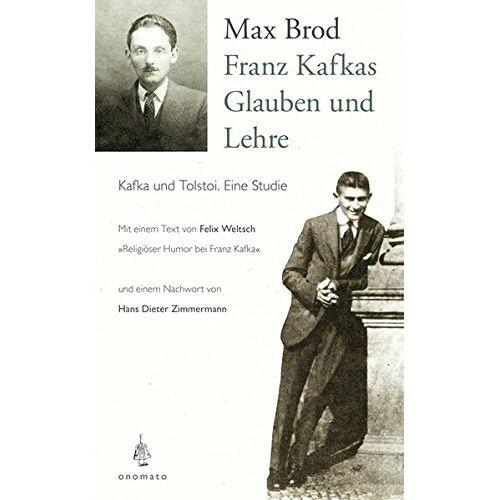 Max Brod - Franz Kafkas Glauben und Lehre - Preis vom 12.05.2021 04:50:50 h