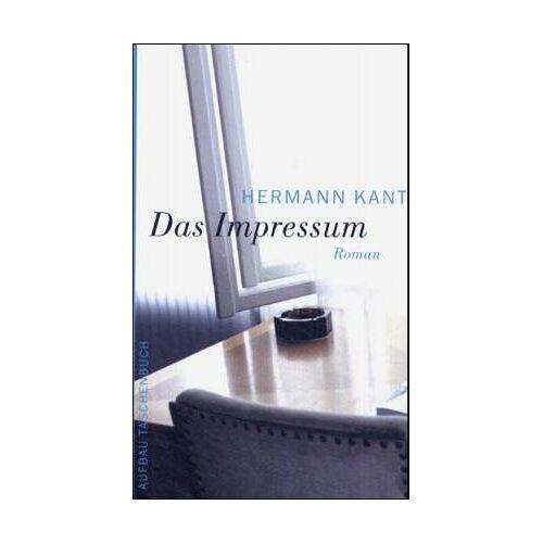 Hermann Kant - Das Impressum: Roman - Preis vom 24.01.2020 06:02:04 h