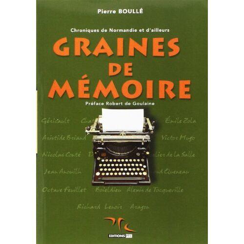 Pierre Boulle - GRAINES DE MEMOIRE - Preis vom 21.01.2021 06:07:38 h