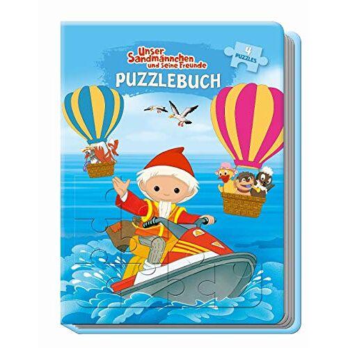 Trötsch Verlag - Unser Sandmännchen und seine Freunde Puzzlebuch: mit Glitzercover, 4 Puzzle 24-teilig - Preis vom 18.10.2020 04:52:00 h