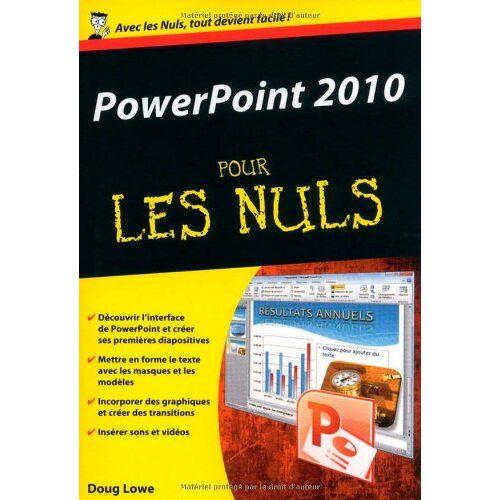 Doug Lowe - Powerpoint 2010 - Preis vom 24.02.2021 06:00:20 h