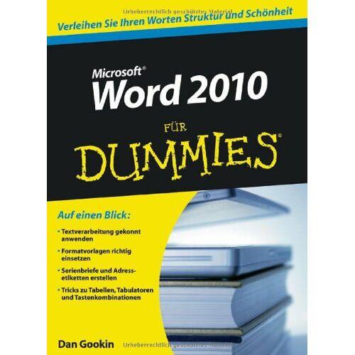 Dan Gookin - Word 2010 für Dummies (Fur Dummies) - Preis vom 06.12.2019 06:03:57 h