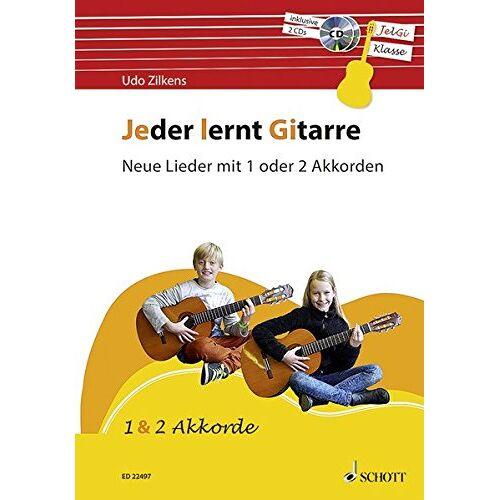 Udo Zilkens - Jeder lernt Gitarre - Neue Lieder mit 1 oder 2 Akkorden: JelGi-Liederbuch für allgemein bildende Schulen. Gitarre. Lehrbuch mit CD. - Preis vom 28.02.2021 06:03:40 h