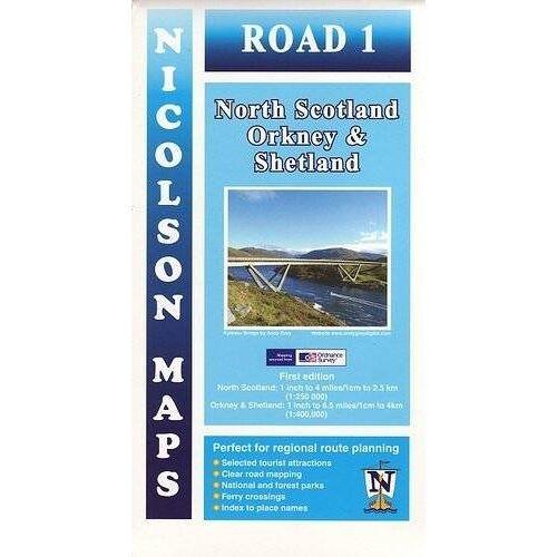Nicolson, M. V. - Nicolson Map 01  North Scotland, Orkney & Shetland 1 : 250 000 / 1 : 400 000 (Nicolson Tourist Map) - Preis vom 22.01.2020 06:01:29 h