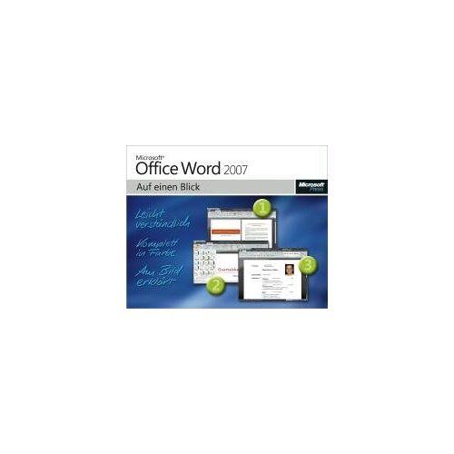 Jerry Joyce - Microsoft Office Word 2007 auf einen Blick. Leicht verständlich. Komplett in Farbe. Am Bild erklärt - Preis vom 04.04.2020 04:53:55 h