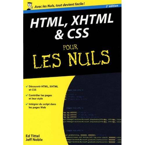 Ed Tittel - HTML XHTML & CSS pour les nuls - Preis vom 06.09.2020 04:54:28 h