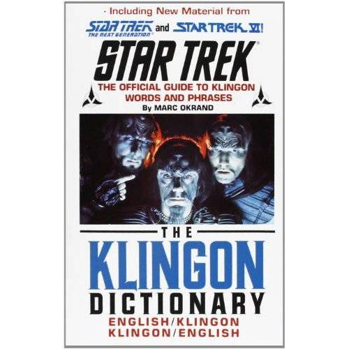 Marc Okrand - The Klingon Dictionary: English/Klingon, Klingon/English (Star Trek) - Preis vom 24.02.2021 06:00:20 h