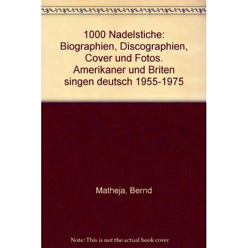 Bernd Matheja - 1000 Nadelstiche - Preis vom 05.09.2020 04:49:05 h