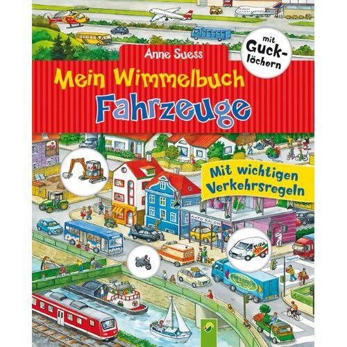 Anne Suess - Mein Wimmelbuch Fahrzeuge mit Gucklöchern: Mit wichtigen Verkehrsregeln - Preis vom 13.05.2021 04:51:36 h