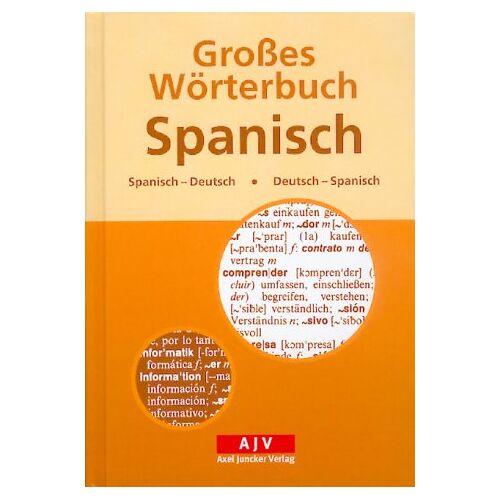 - Großes Wörterbuch Spanisch. Spanisch-Deutsch / Deutsch-Spanisch - Preis vom 10.05.2021 04:48:42 h