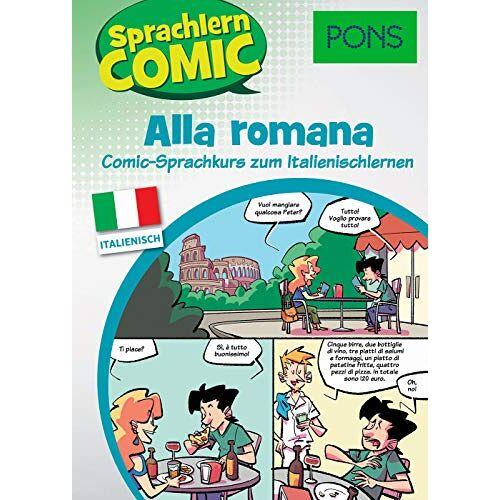 - PONS Sprachlern-Comic Italienisch - Alla romana: Comic-Sprachkurs zum Italienischlernen - Preis vom 24.02.2020 06:06:31 h