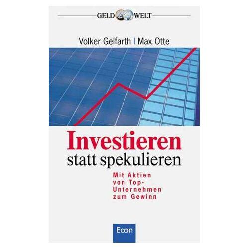 Volker Gelfarth - Investieren statt spekulieren - Preis vom 07.04.2020 04:55:49 h