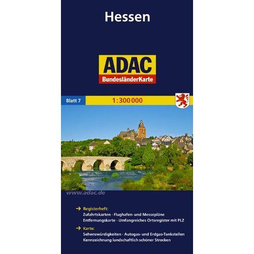 - ADAC Bundesländerkarte Hessen 1:300.000 - Preis vom 06.04.2021 04:49:59 h