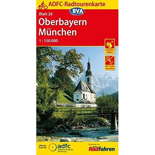 Allgemeiner Deutscher Fahrrad-Club e.V. (ADFC) - ADFC-Radtourenkarte 26 Oberbayern München 1:150.000, reiß- und wetterfest, GPS-Tracks Download (ADFC-Radtourenkarte 1:150000) - Preis vom 24.10.2020 04:52:40 h