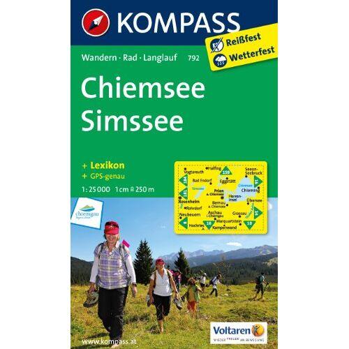 - Chiemsee - Simssee: Wanderkarte mit Aktiv Guide, Radrouten und Loipen. GPS-genau. 1:25000 - Preis vom 20.10.2020 04:55:35 h