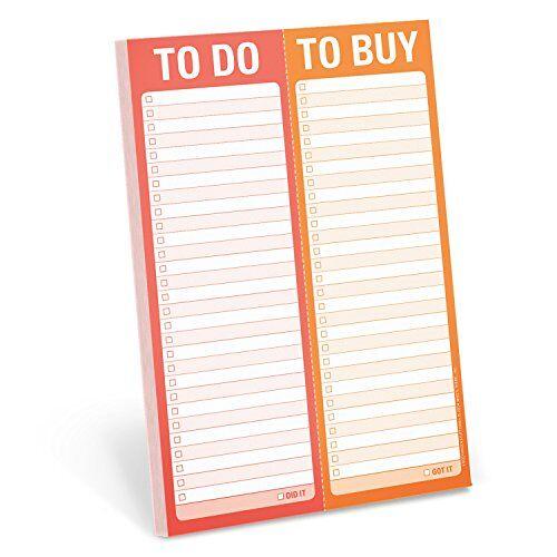 Knock Knock - Knock Knock Perforated Pad: To Do/To Buy - Preis vom 06.03.2021 05:55:44 h