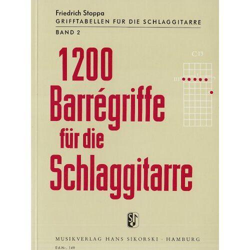 - 1200 Barregriffe für die Schlaggitarre - Band 2 - Preis vom 20.10.2020 04:55:35 h