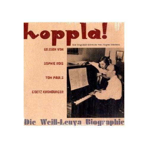 Götz Kronburger - Kurt Weill & Lotte Lenya Biographie. 6 CDs - Preis vom 19.10.2020 04:51:53 h