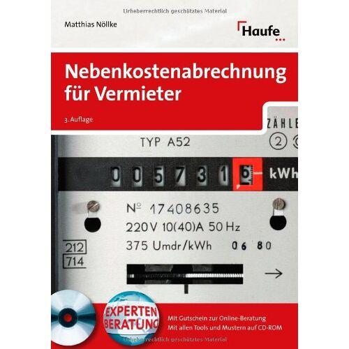 Matthias Nöllke - Nebenkostenabrechnung für Vermieter - Preis vom 18.10.2020 04:52:00 h