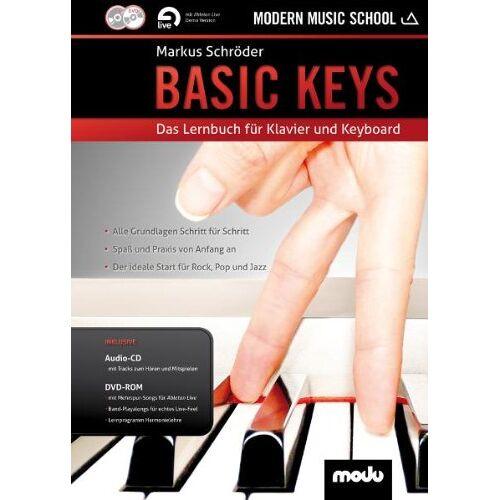 Markus Schröder - Basic Keys: Das Lernbuch für Klavier und Keyboard. Klavier (Keyboard). Lehrbuch mt CD + DVD. - Preis vom 05.05.2021 04:54:13 h