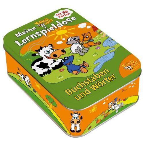 - Toggolino Meine Lernspieldose Buchstaben und Wörter: Metallbox mit 50 Lernspiel-Karten - Preis vom 28.05.2020 05:05:42 h
