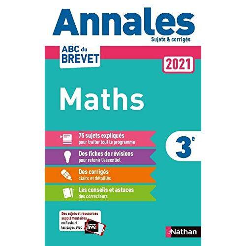 - Annales Brevet 2021 Maths - Corrigé (ANNALES ABC BREVET C) - Preis vom 05.09.2020 04:49:05 h