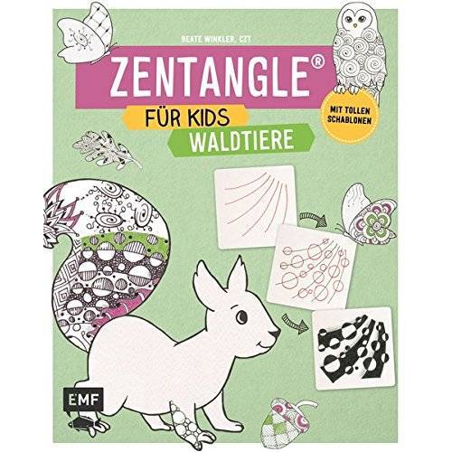 Beate Winkler - Zentangle für Kids Waldtiere: Mit tollen Schablonen - Preis vom 06.09.2020 04:54:28 h