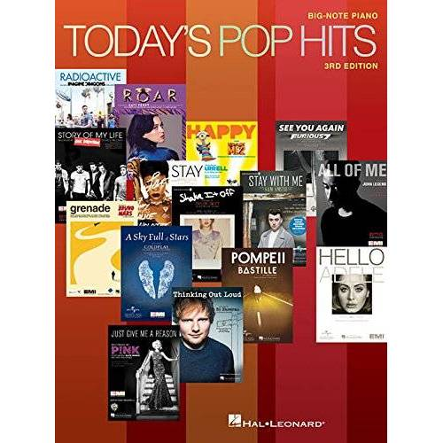 - Today's Pop Hits: 3rd Edition - Big Note Piano: Songbook für Klavier: For Big-Note Piano - Preis vom 18.04.2021 04:52:10 h