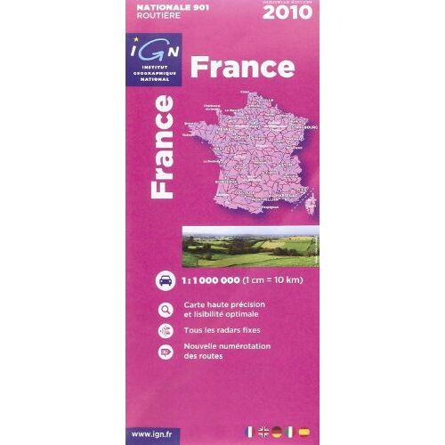 IGN - France Carte Routière - Preis vom 04.09.2020 04:54:27 h
