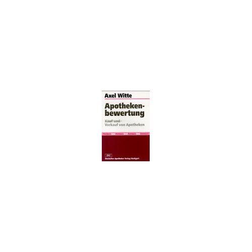 Axel Witte - Apothekenbewertung: Kauf und Verkauf von Apotheken - Preis vom 14.09.2020 04:48:11 h
