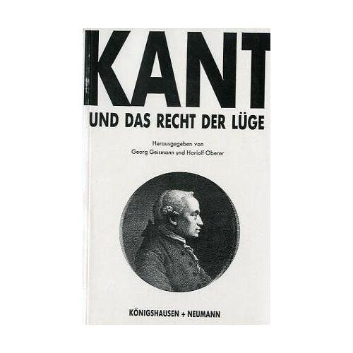 Georg Geismann - Kant und das Recht der Lüge - Preis vom 20.10.2020 04:55:35 h