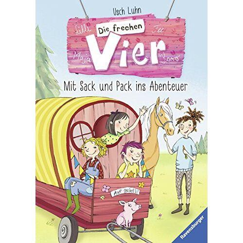 Usch Luhn - Die frechen Vier 3: Mit Sack und Pack ins Abenteuer (HC - Die frechen Vier) - Preis vom 21.10.2020 04:49:09 h