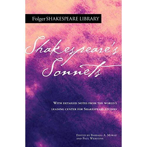 William Shakespeare - Shakespeare's Sonnets (Folger Shakespeare Library) - Preis vom 05.09.2020 04:49:05 h
