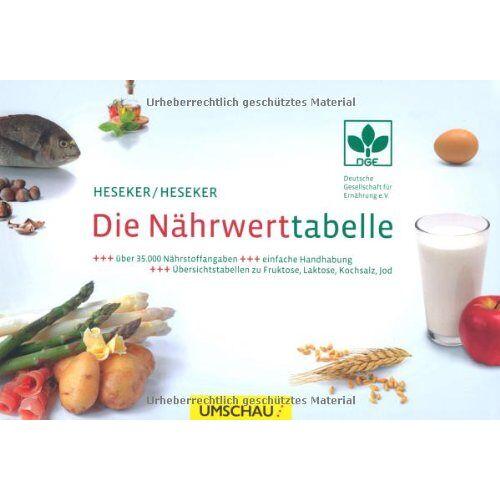 Helmut Heseker - Die Nährwerttabelle - Preis vom 26.02.2021 06:01:53 h