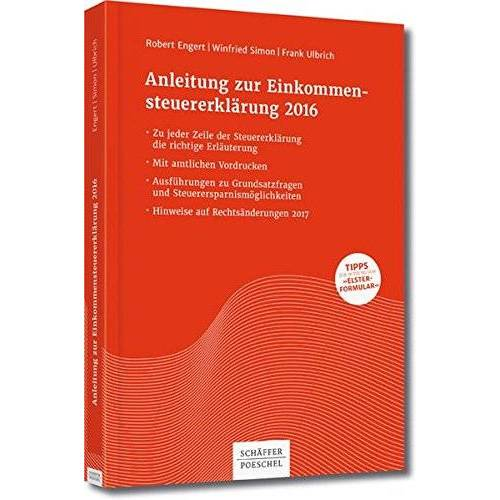 Robert Engert - Anleitung zur Einkommensteuererklärung 2016 - Preis vom 05.09.2020 04:49:05 h