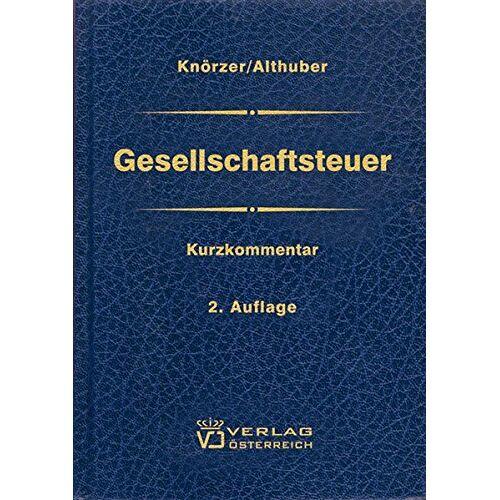 Patrick Knörzer - Gesellschaftsteuer - Preis vom 20.10.2020 04:55:35 h