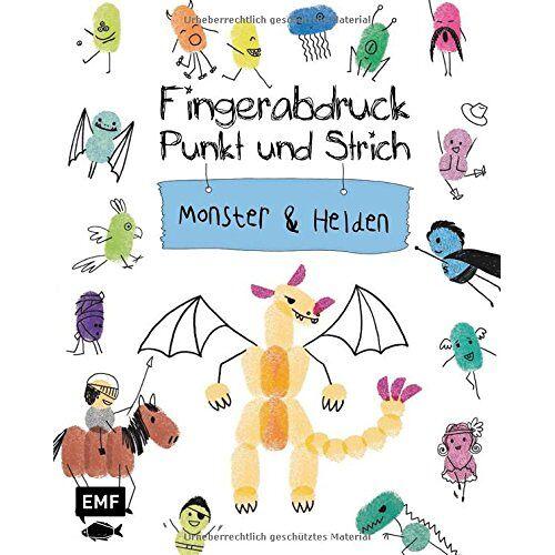 Kreativatelier Fischer - Fingerabdruck, Punkt und Strich - Monster und Helden: Zeichenspaß auf Fingerabdrücken - Preis vom 09.04.2020 04:56:59 h