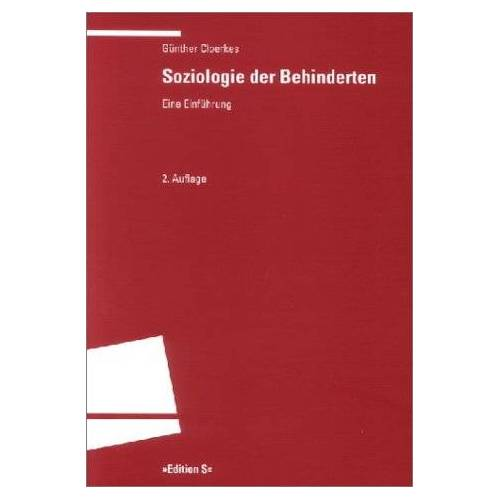 Günther Cloerkes - Soziologie der Behinderten: Eine Einführung - Preis vom 27.02.2021 06:04:24 h