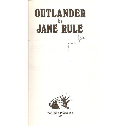 Jane Rule - Outlander - Preis vom 20.10.2020 04:55:35 h