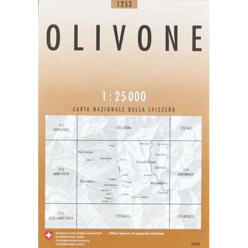- Swisstopo 1 : 25 000 Olivone - Preis vom 16.04.2021 04:54:32 h