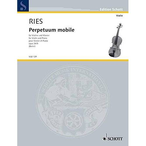Ida Bieler - Perpetuum mobile: op. 34/5. Violine und Klavier. (Edition Schott) - Preis vom 13.05.2021 04:51:36 h