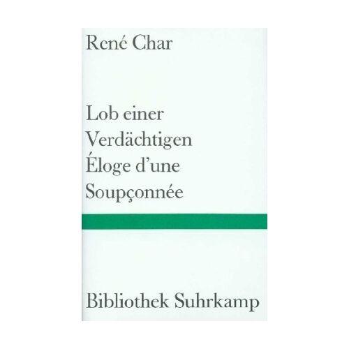 René Char - Lob einer Verdächtigen - Preis vom 20.01.2021 06:06:08 h