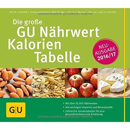 Ibrahim Elmadfa - Die große GU Nährwert-Kalorien-Tabelle 2016/17 (GU Tabellen) - Preis vom 20.01.2021 06:06:08 h